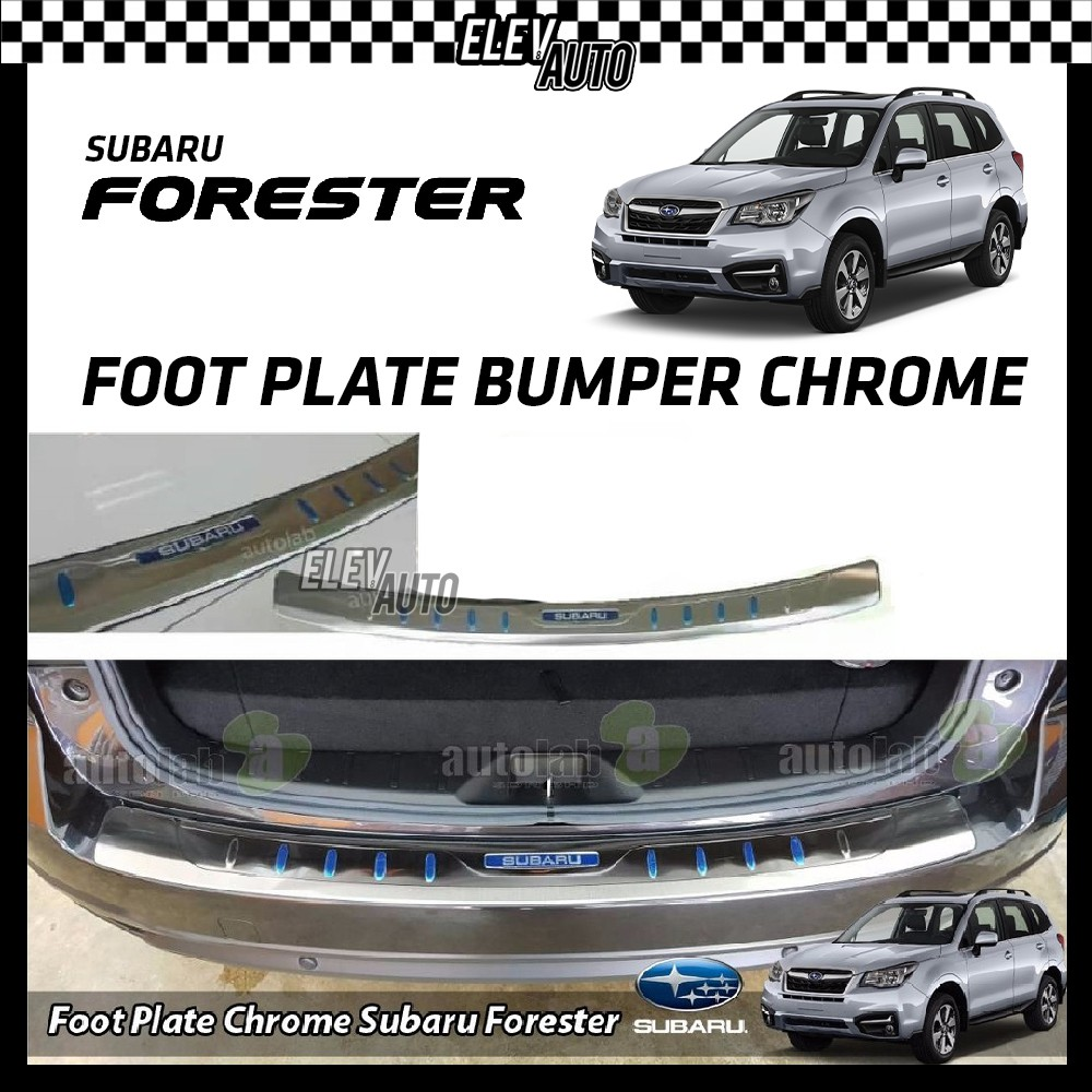 Subaru Forester 2014-2018 Foot Plate Rear Bumper Chrome Protector Pad Anti Scratch