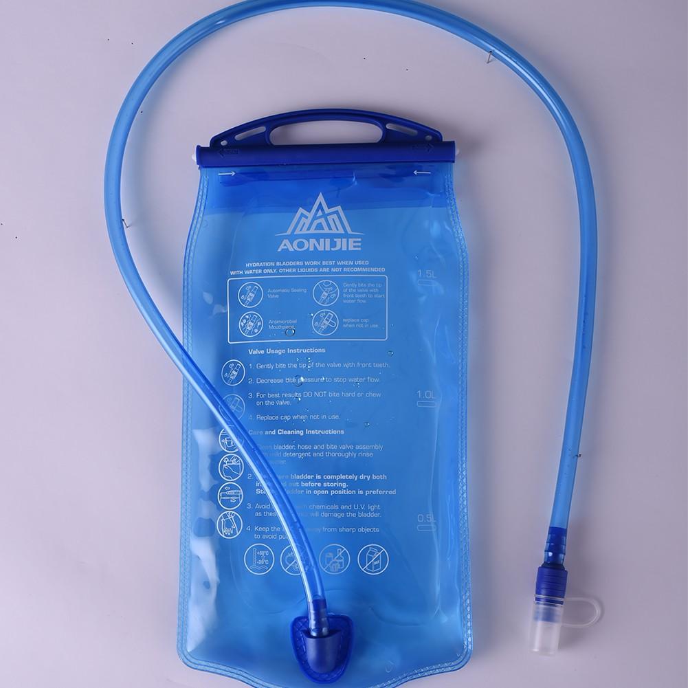 1L Outdoor Water Reservoir Water Bladder Hydration Pack Storage Bag BPA Free