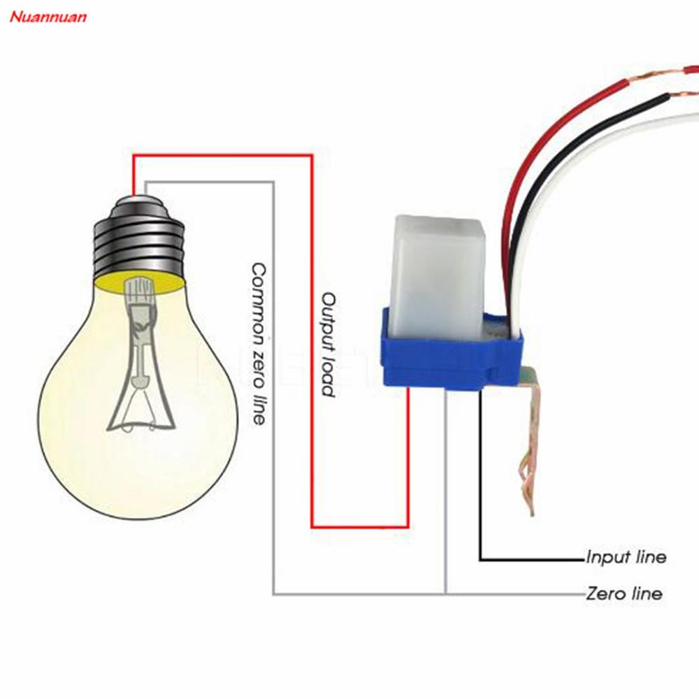 12V-1PC AC DC 12V 10A Auto On Off Photocell Light Switch Photoswitch Light Sensor Switch