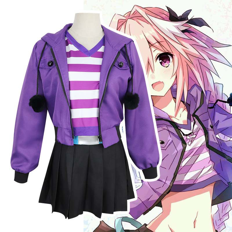 Fate/Grand Order FGO Apocrypha FA Rider Ast Cosplay Costume Women Full Set  Suits