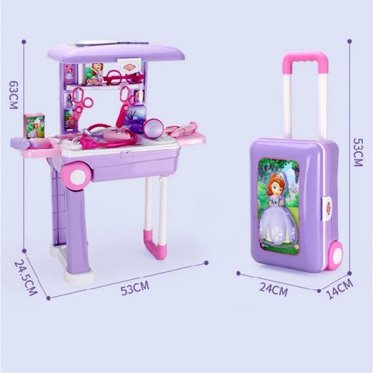 [ READY STOCK ]  Princess Pretend Play Toy Makeup Table Frozen Elsa Makeup Table Toy Set Deformation Dressing