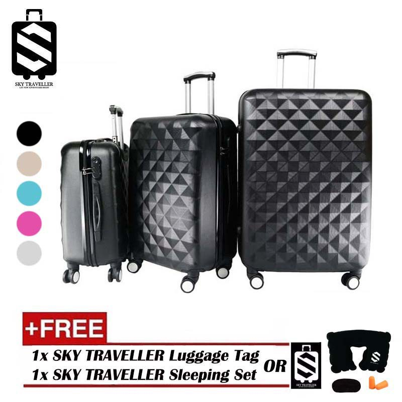 cb8bb97ff SKY TRAVELLER SKY281 Premium ABS 3-In-1 Hard Case Diamond Luggage [BEST  QUALITY] | Shopee Malaysia