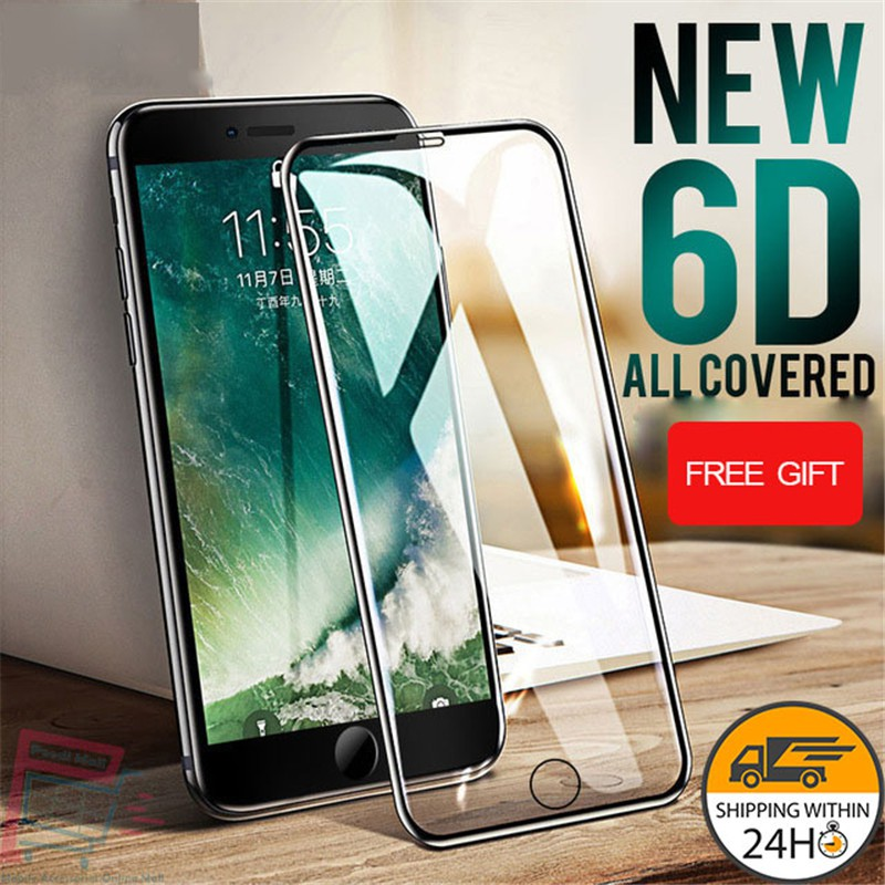 6D Full Tempered Glass Film Screen Protector For IPhone XR XS Max 8 6 6s 7  Plus