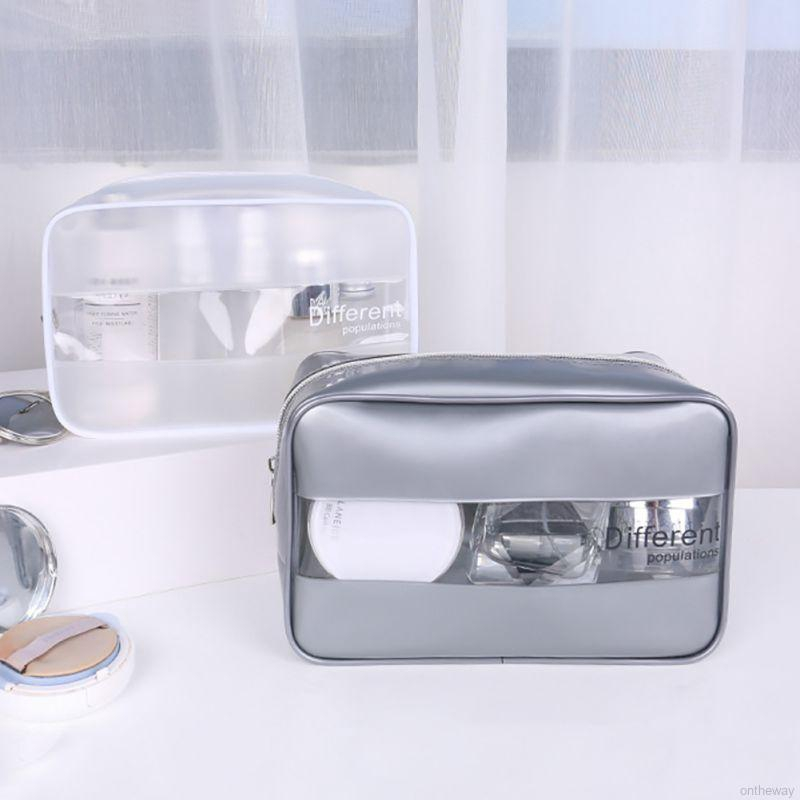 ✨Waterproof Transparent Cosmetic Bag Women Make Up Case Travel Makeup Bag
