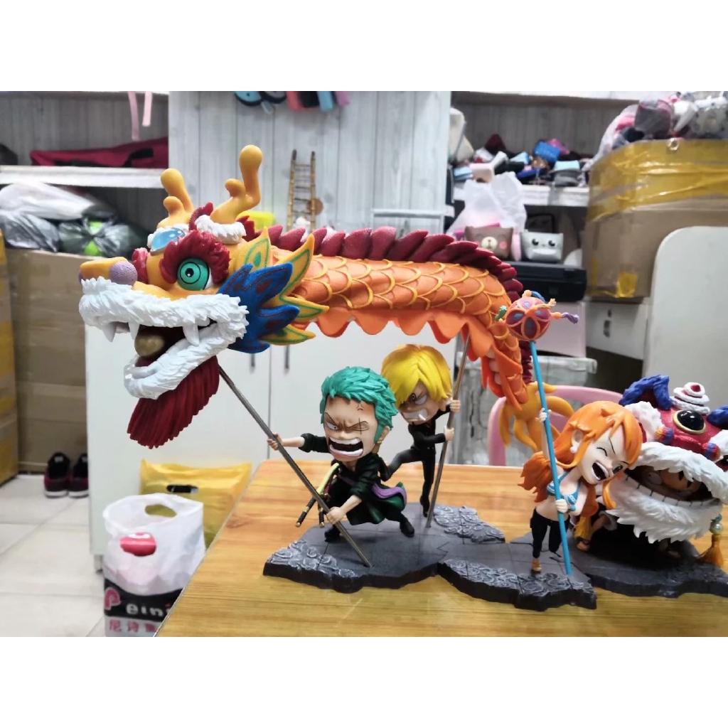 / Xin Jie Wang China Dragon Road Flutter Lion Beautiful Boxed Hand Do Model