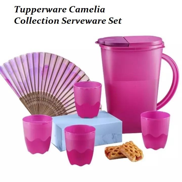 Tupperware Camellia Collection Serveware Set/ Blossom Giant Pitcher 4.2L/ Blossom Pitcher 2L/ Blossom Pitcher 1.4L/ Mug