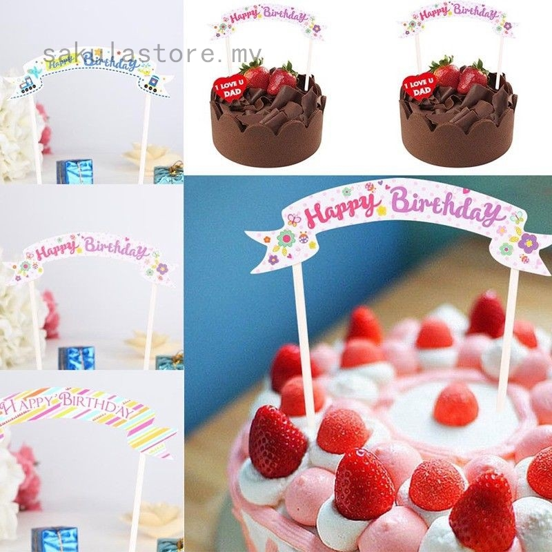 Pleasing Happy Birthday Cake Topper Cupcake Bunting Banner Flag Party Cake Personalised Birthday Cards Paralily Jamesorg