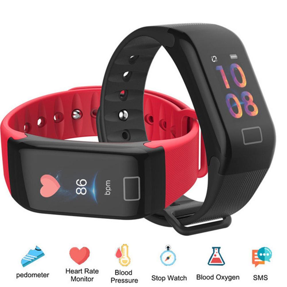 Smart Watch Bracelet Color Screen Heart Rate Monitor Fitness Tracker Samrt  Band