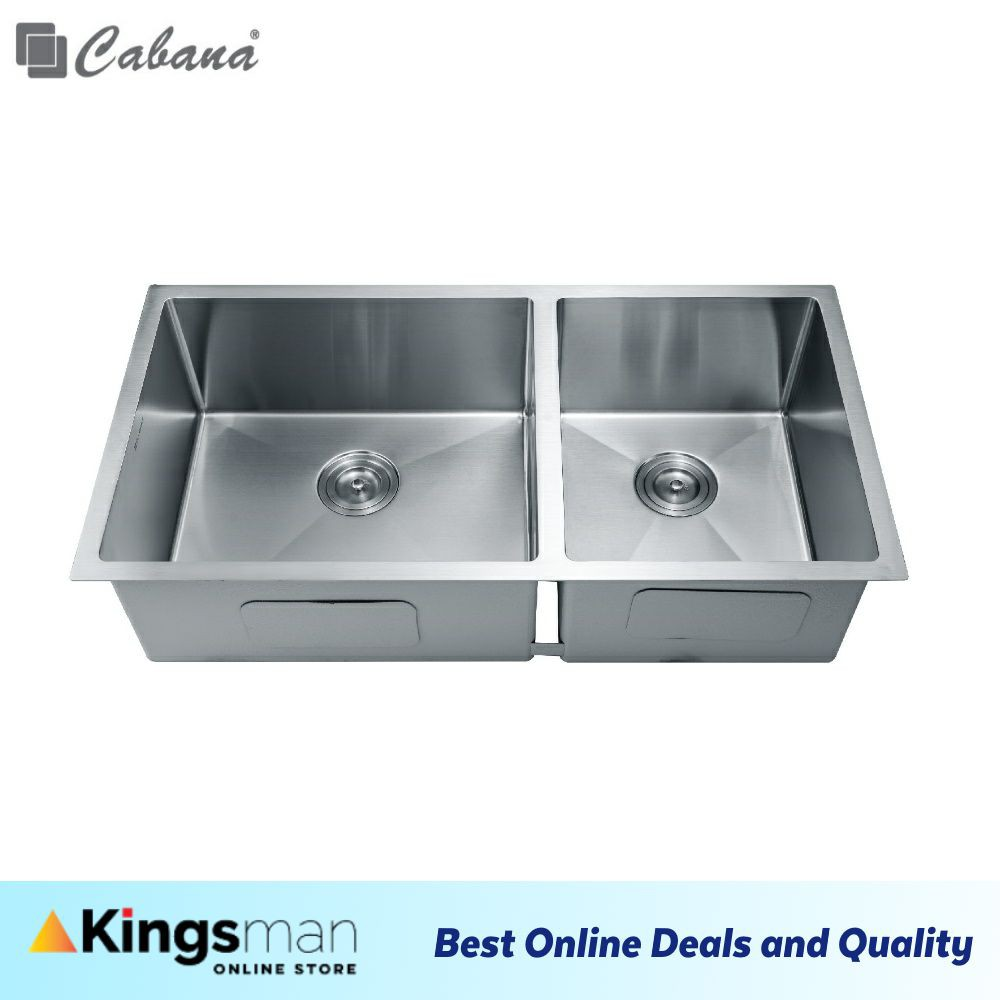 [Kingsman] Cabana Undermount Stainless Steel Home Living Kitchen Sink Double Bowl Ready Stock - CKS6304A