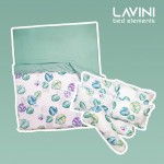 GDeal LAVINI 8-in-1 King Size Quilt Cover Pillow Bedsheet Bolster Fitted Cover Set For Bedroom