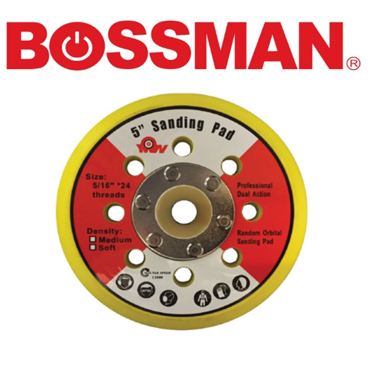 BOSSMAN INDUSTRIAL TOOLS  BVD5-NB FOR AIR 5'' VRLCRO DISC BACK UP PACK (HOOK & LOOP) ACCESSORIES