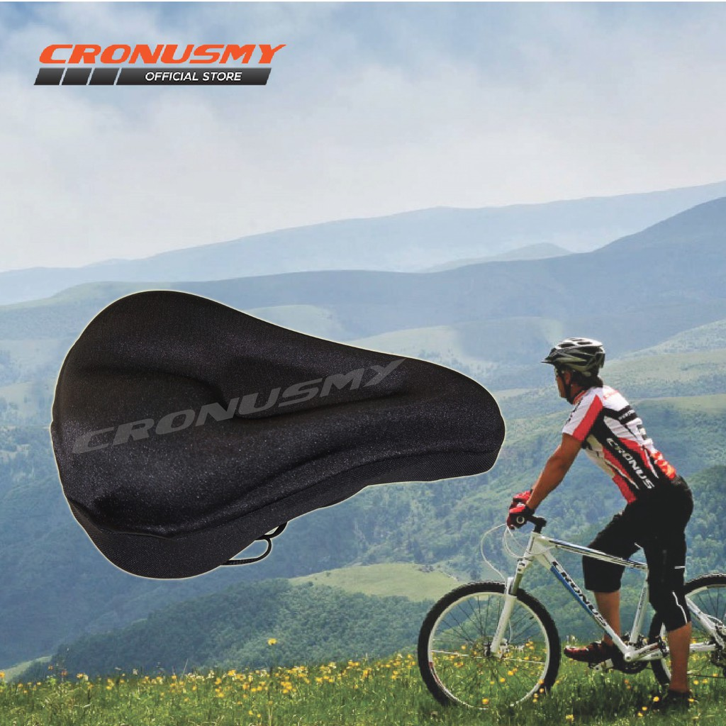 Bicycle Bike Saddle Cushion Pad Seat Cover Sponge Gel 1399084 Rockbros Silicone Bcs Shopee Malaysia
