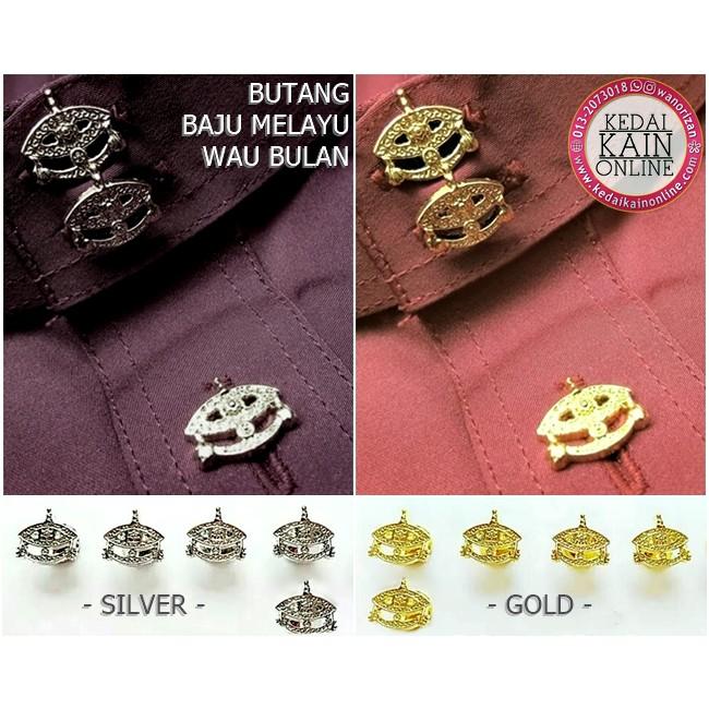 Butang baju melayu design wau (gold color)  a43e05d7fb