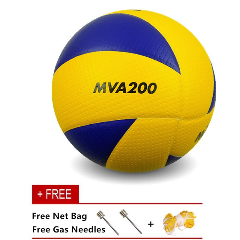Mikasa MVA 300 Volleyball with Needles and Carrying Net  d1220715f3