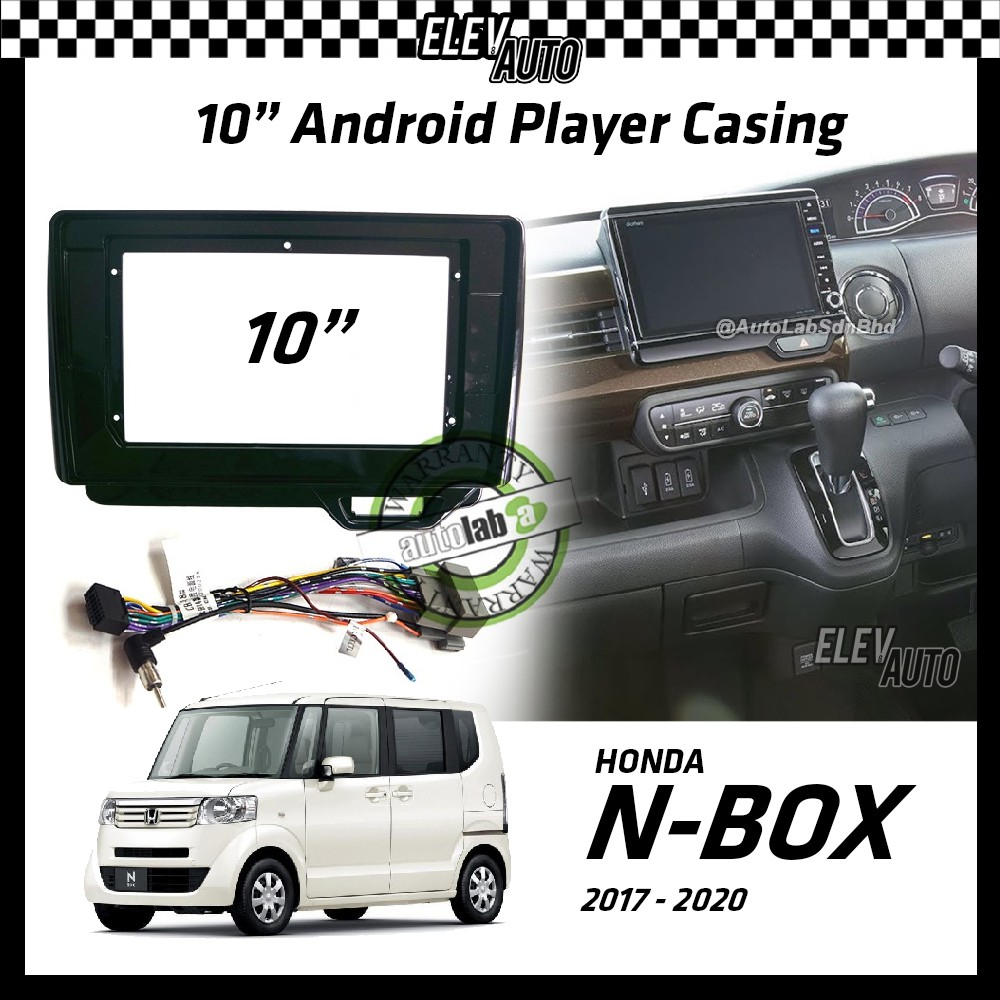 """Honda N-Box Nbox N Box 2017-2021 Android Player Casing 10"""" with Player Socket"""