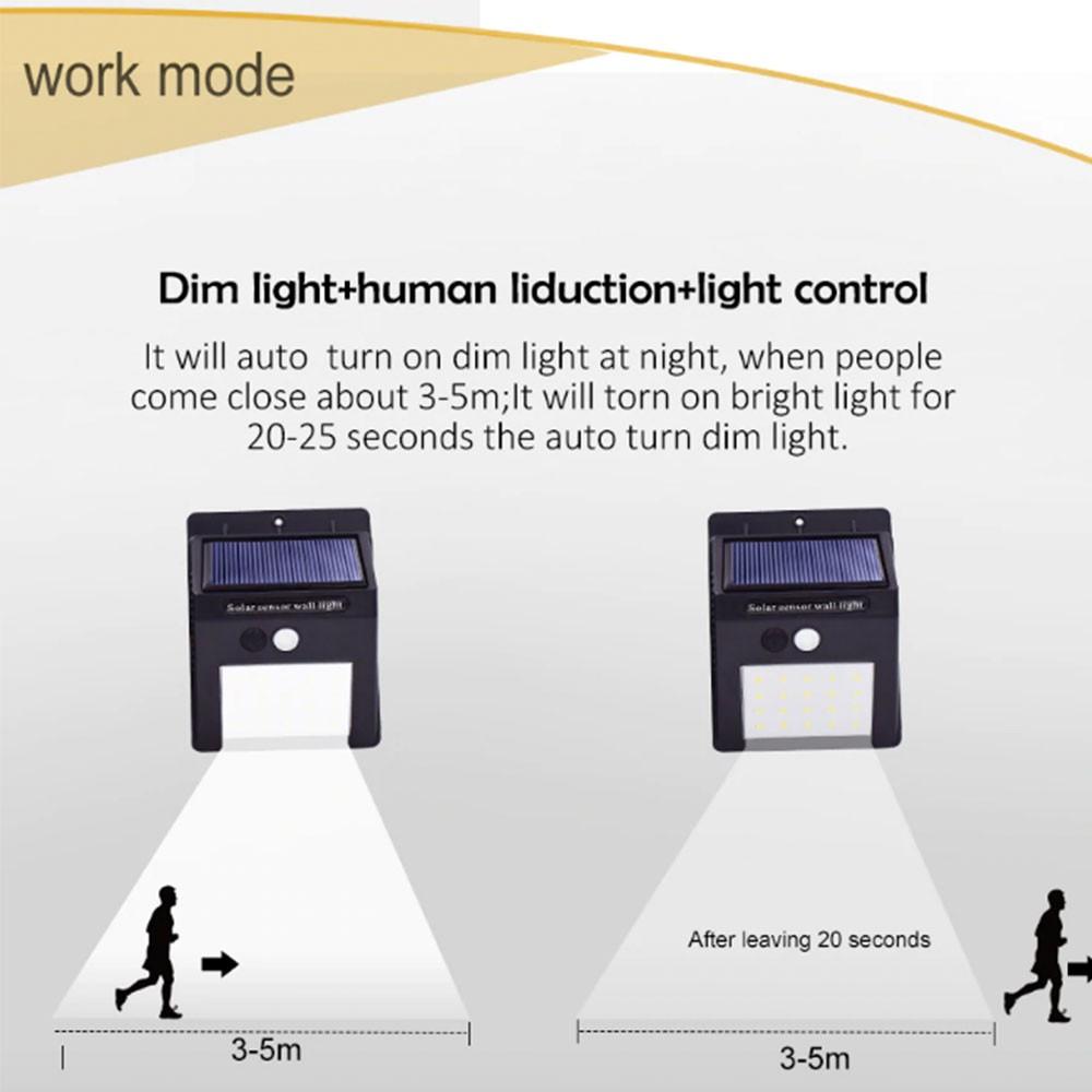 🔥Ready stock Delly 20 30 48 LED Solar Light PIR Motion Sensor Light Control Led Lighting Waterproof Wall Light Outdoor