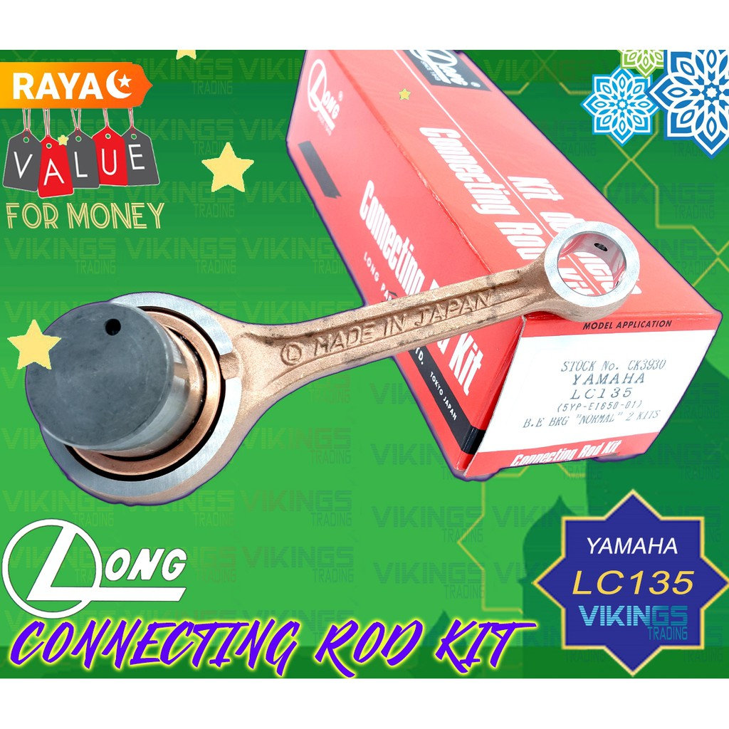 Yamaha LC135 LC 135 135LC HLY 100% Original  Connecting Con Rod Conrod Kit Racing Motorcycle Motosikal Genuine Part