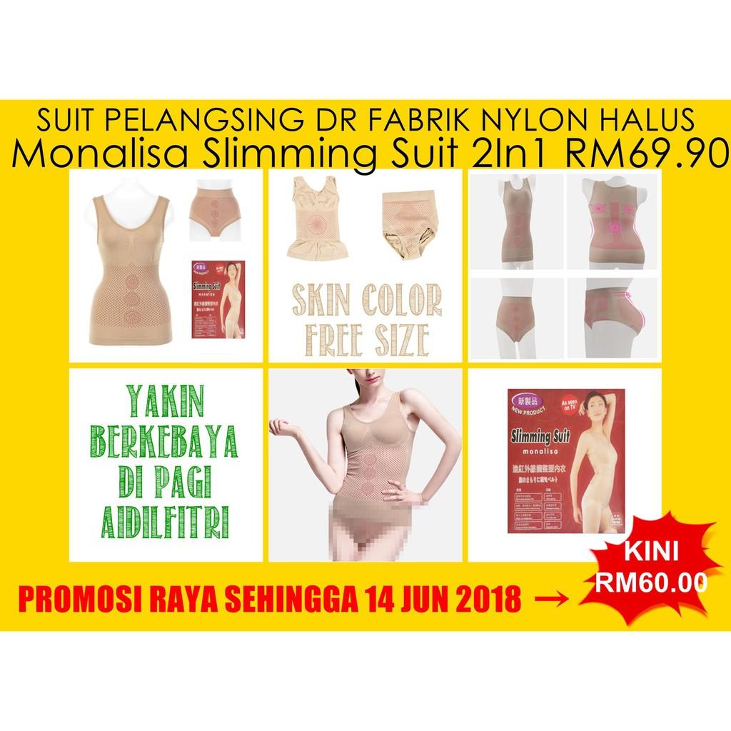 Restocked 3 In 1 Monalisa Infra Red Slimming Corset Undergarment Bambo Natural Suit Korset Pelangsing Shopee Malaysia