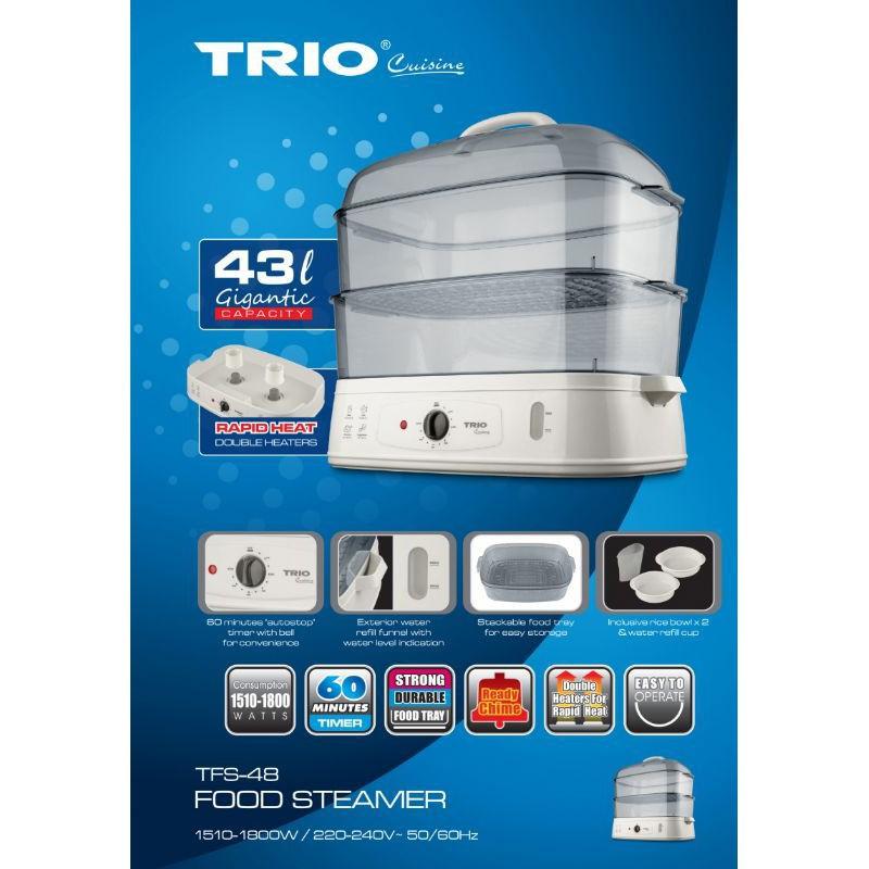 Trio Food Steamer TFS-48