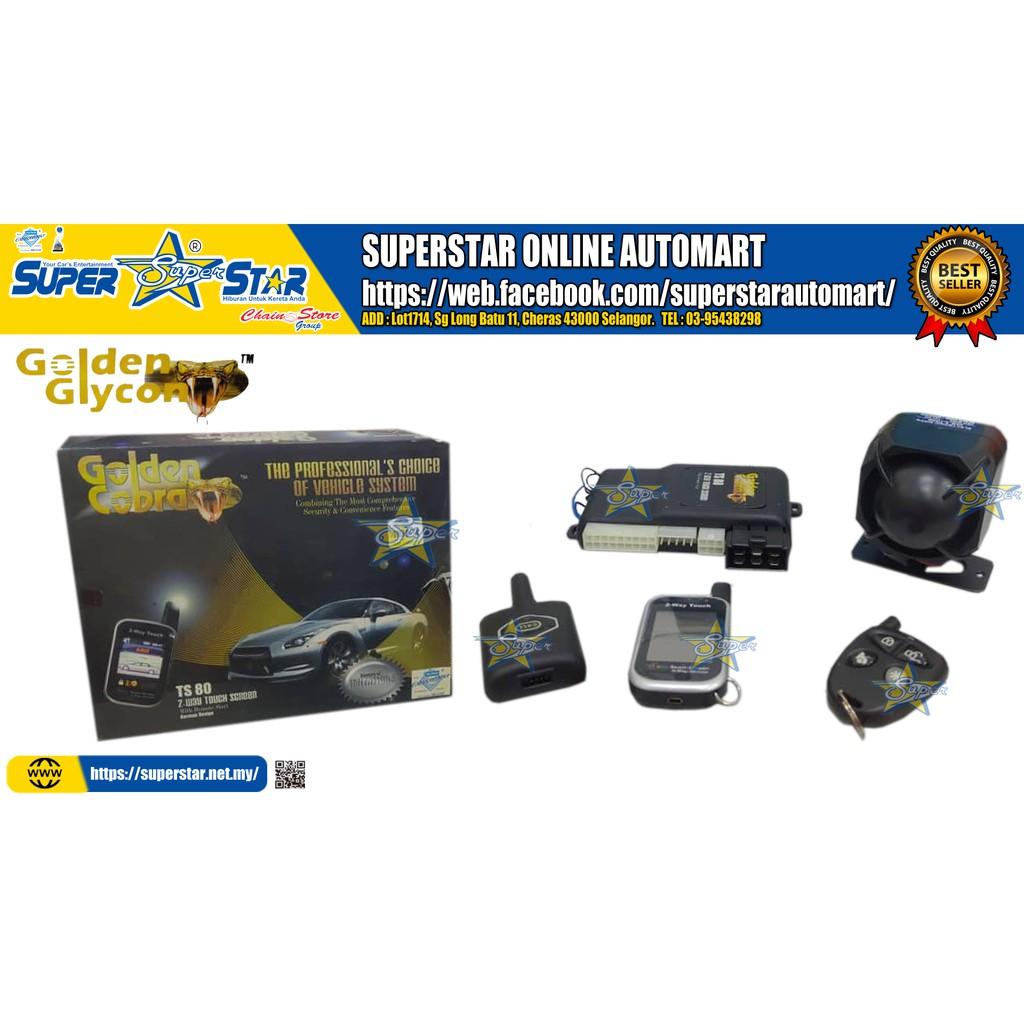 GOLDEN COBRA 2 WAY CAR ALARM TS80