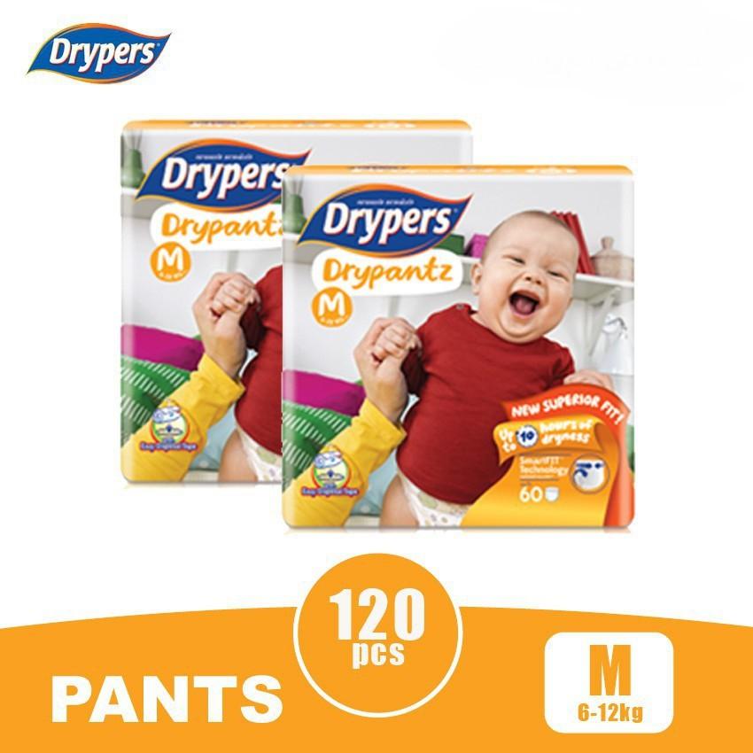 Drypers Drypantz M60 Twin Pack (120s)