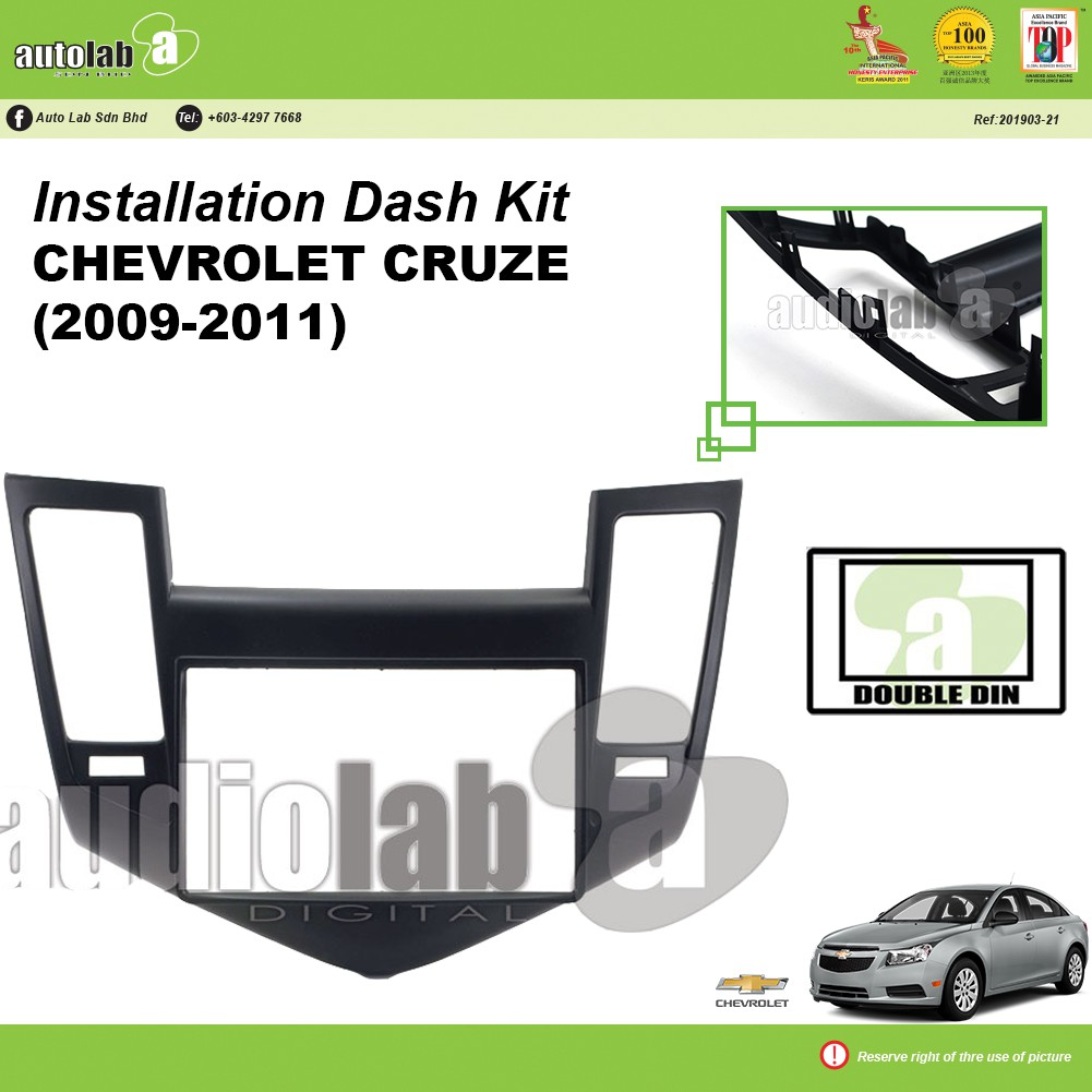 Player Casing Double Din Chevrolet Cruze (2009-2011)