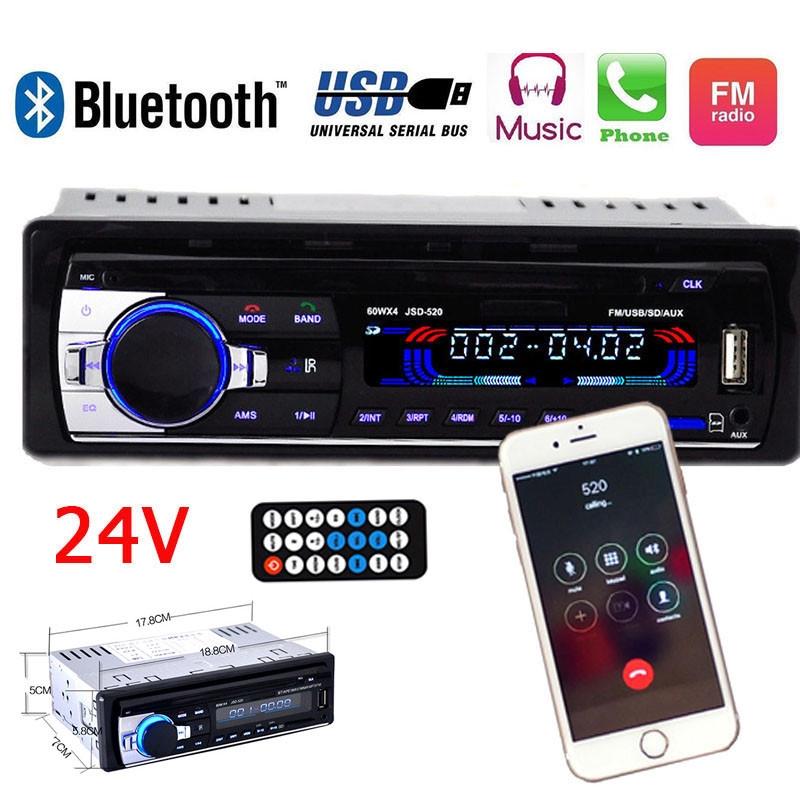 1DIN Car Audio Bluetooth Stereo Radio Head Unit MP3 Player 2-USB SD//FM Handsfree