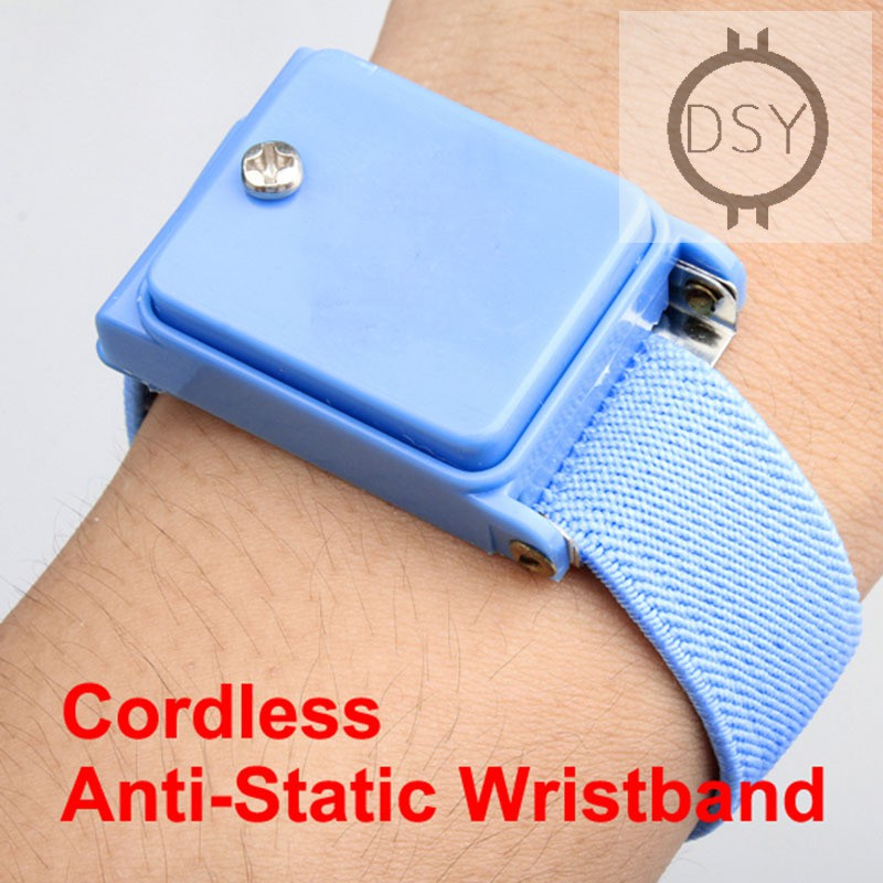 Cordless Wireless Anti-Static ESD Discharge Cable WristBand Wrist Strap Slim New