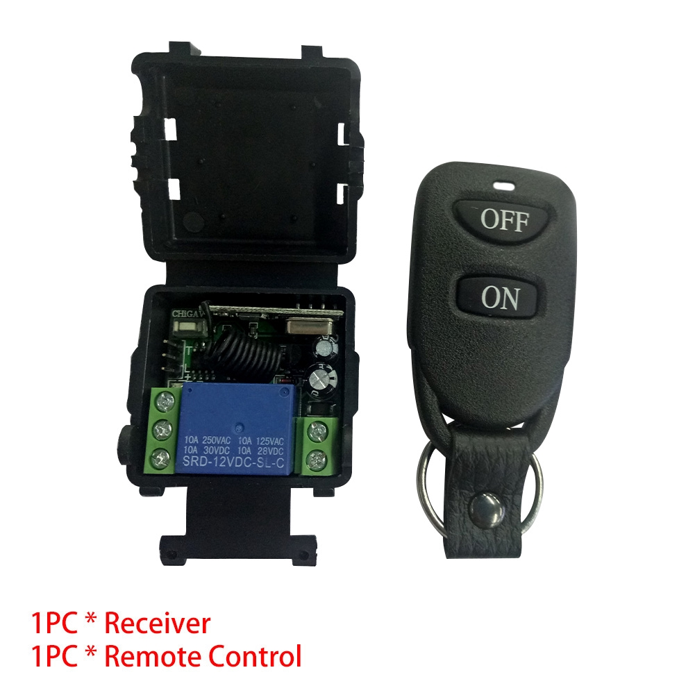 Professional 12V DC Shell Durable RF RC Set Transmitter Receiver Wireless  Relay Universal 10A Module