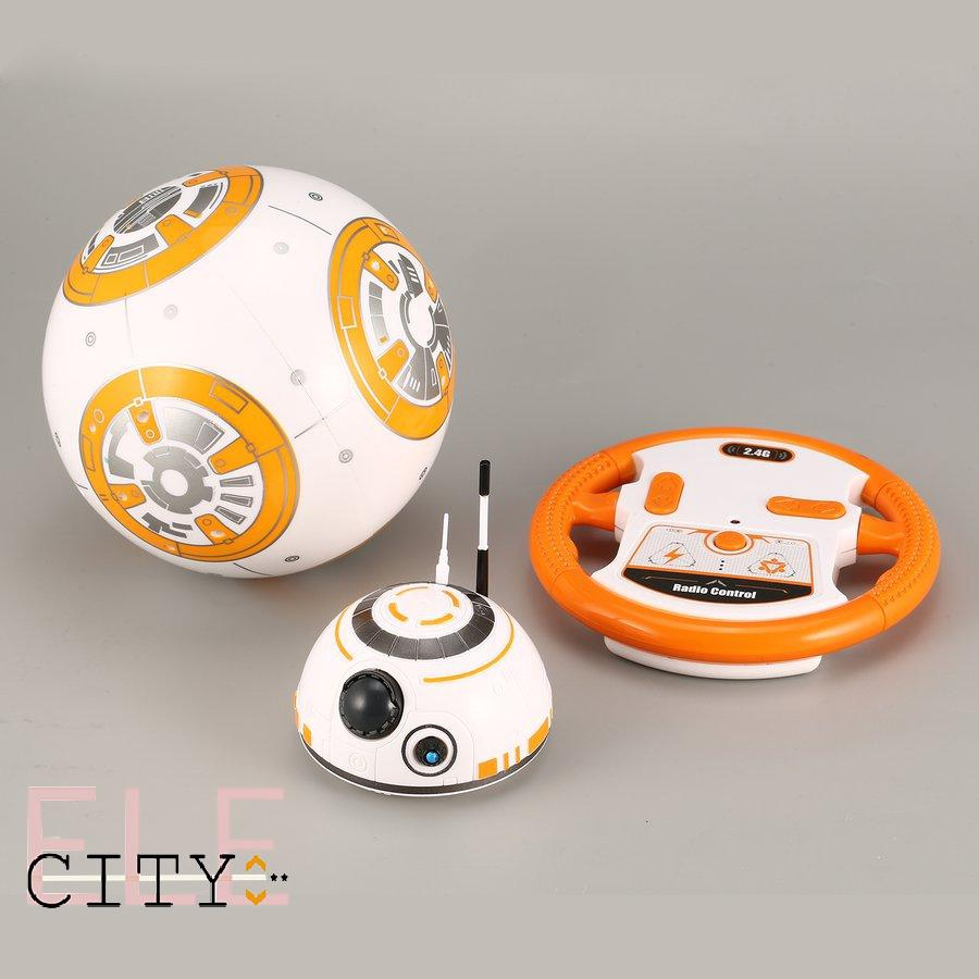 BB-8 2.4GHz RC Robot Ball Remote Control Planet Boy with Sound Star Wars Toy Kid