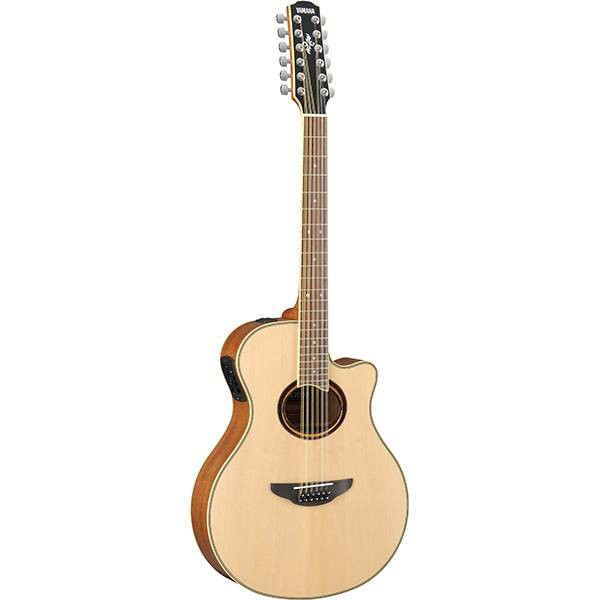 Yamaha APX700II-12 41 12 String Solid Spruce Top Acoustic Electric Guitar With Pickup (APX700 12)