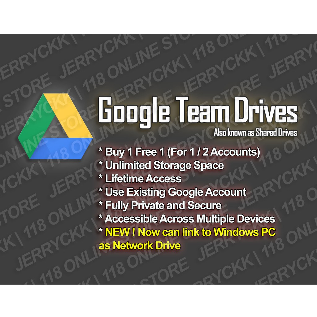 [Buy 1 Free 1] Unlimited Google Team Drives (Lifetime, Use Existing Gmail  ID)