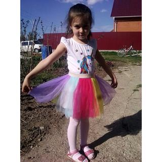 9977c22376f53 Kids Baby Girl Party Unicorn Rainbow Colorful Fashion Princess ...