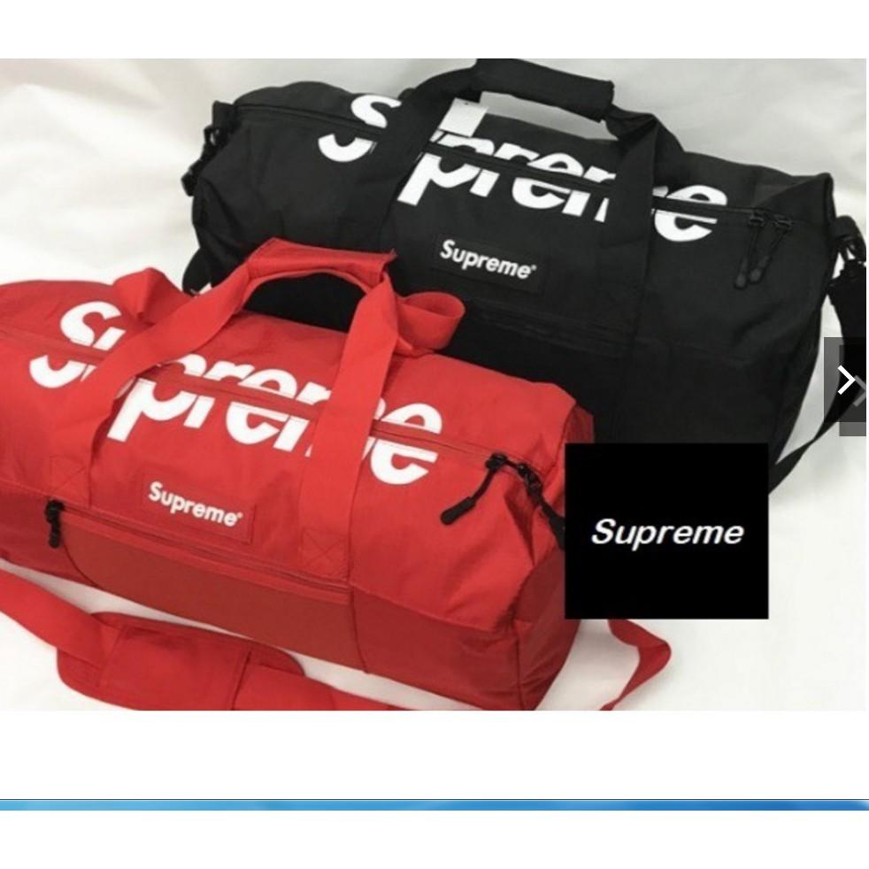 9bce87f207 RED/BLACK SUPREME Duffle Bag SS17 Travel Gym Bag Handbag | Shopee Malaysia
