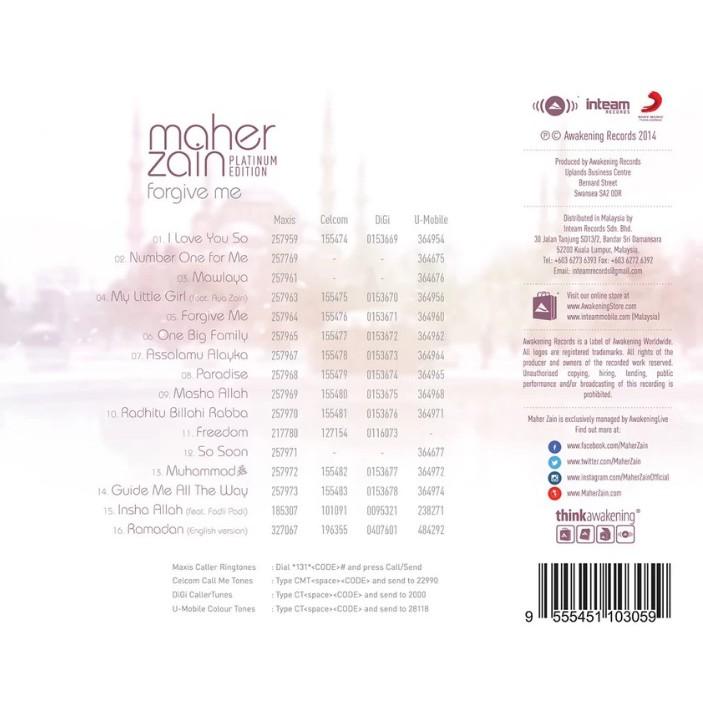 MAHER ZAIN - Forgive Me Platinum Edition (CD) | Shopee Malaysia