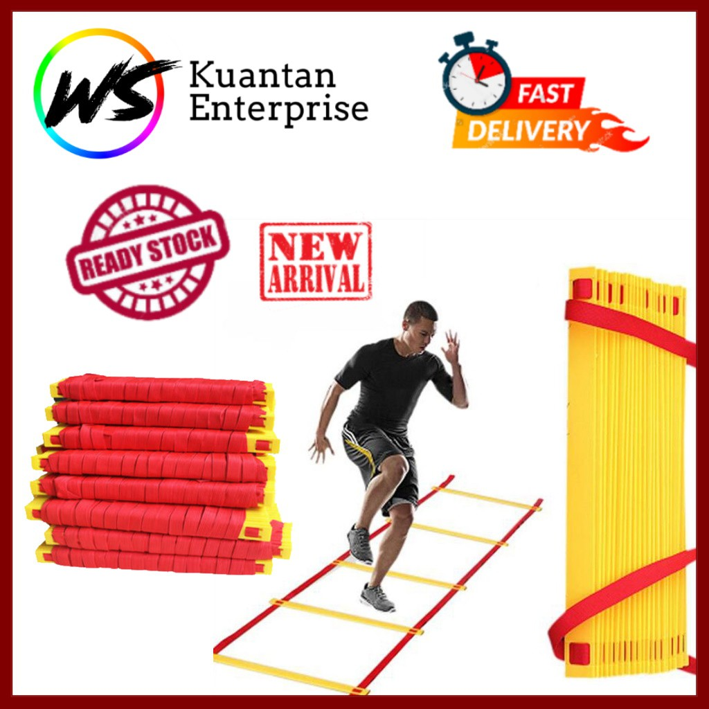 【100% Ready Stock】Flash Speed & Agility Ladder (Free Pouch)