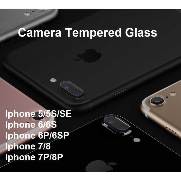 Apple Iphone 5 5S SE 6 6S 7 8 Plus Back Camera Tempered Glass Protector 2.5D | Shopee Malaysia