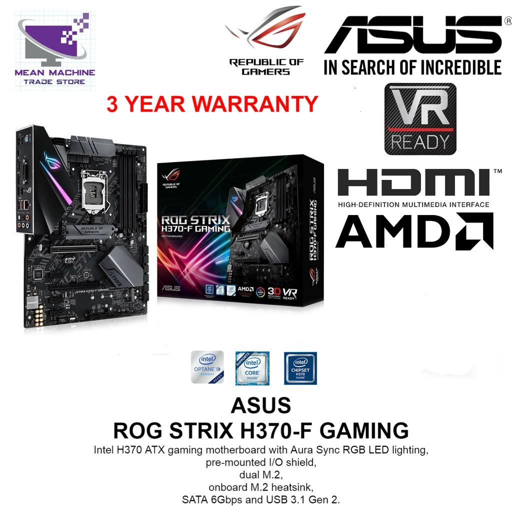 ASUS ROG Strix H370-F Gaming LGA1151 H370 ATX Motherboard
