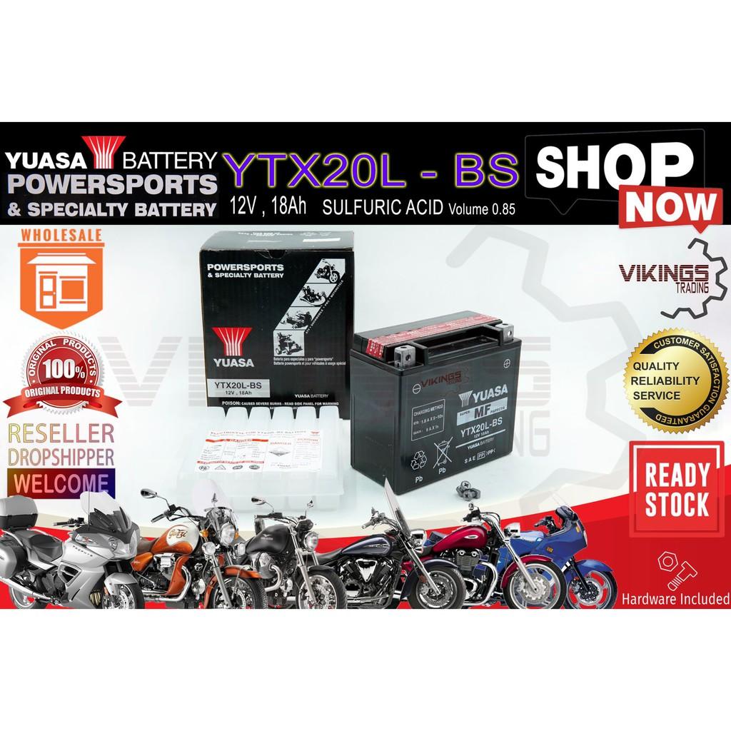 YTX20 YTX20L-BS ORIGINAL YUASA MAINTENANCE FREE (VRLA) 12V-18AH