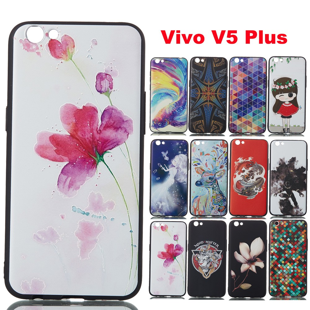 Silicone Casing OPPO A83 VIVO Y71 V9 Soft TPU Back Case Floral 3D Full Cover |