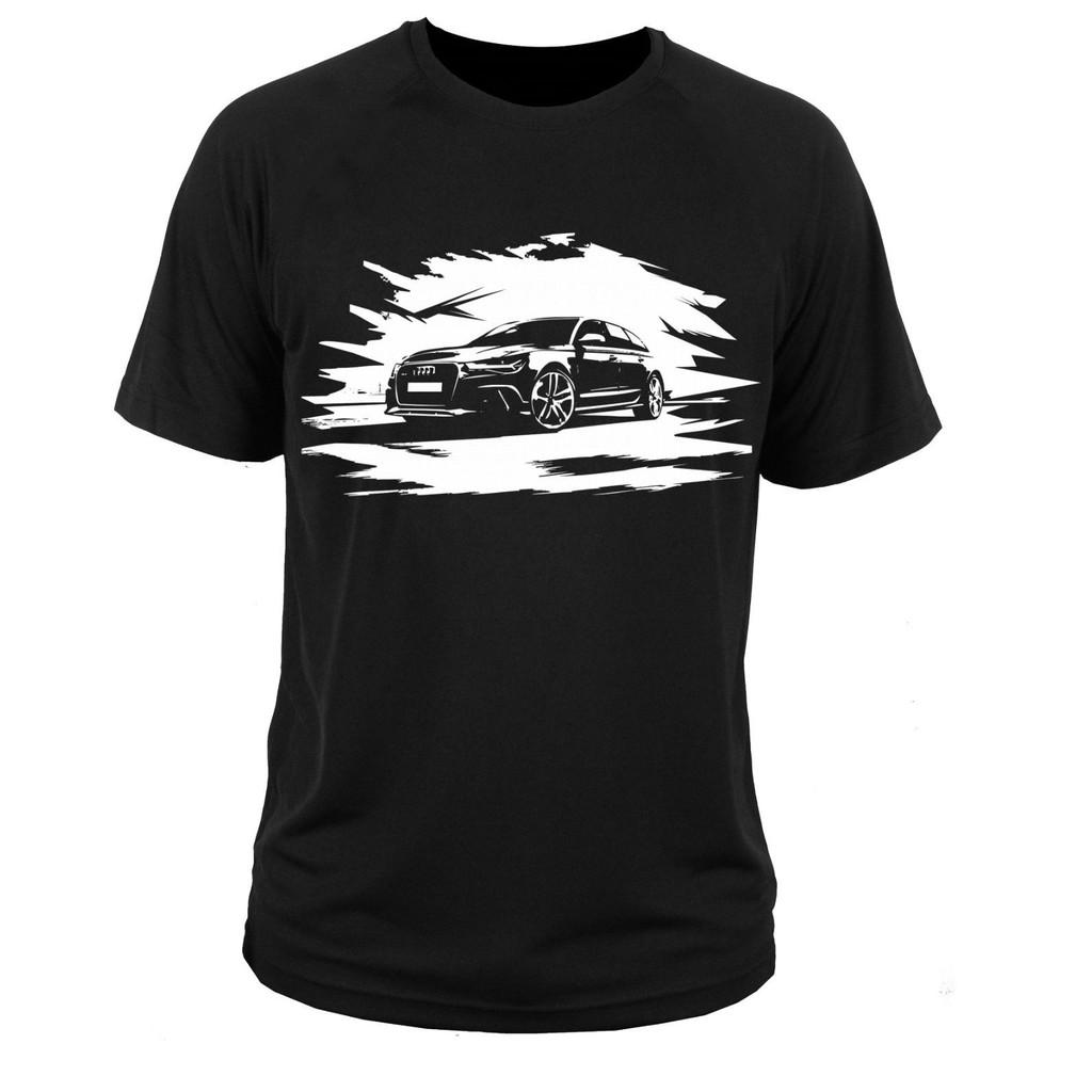 Fashion T-Shirt Men Audi RS Printed Tshirt Casual Cotton Women Top Tee Gift