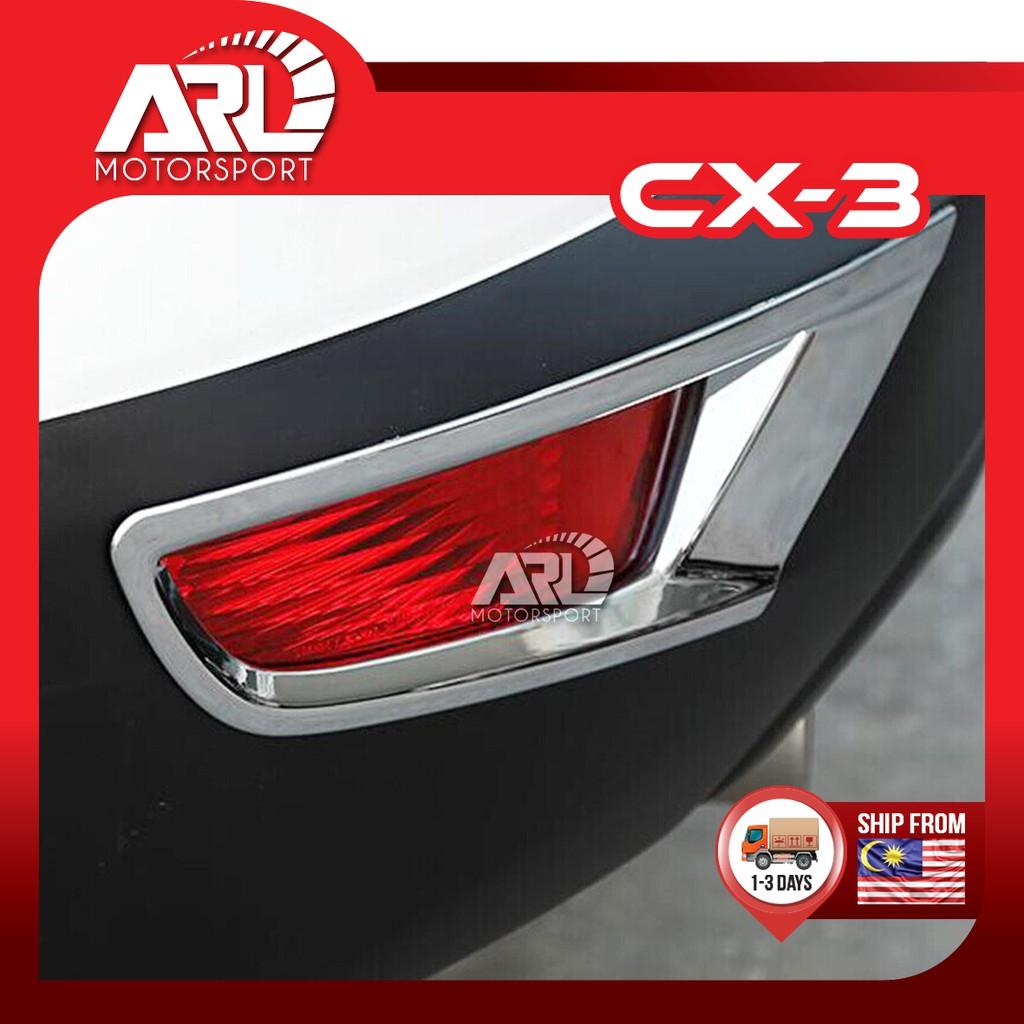 Mazda CX3 CX-3 Rear Reflector Cover Protector Chrome Decoration Car Auto Acccessories ARL Motorsport