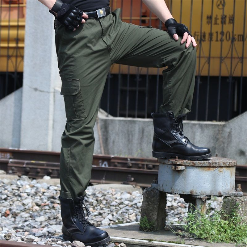 Tactical Pants Military Cargo Pants Men Military Work Casual Trouser Green  | Shopee Malaysia