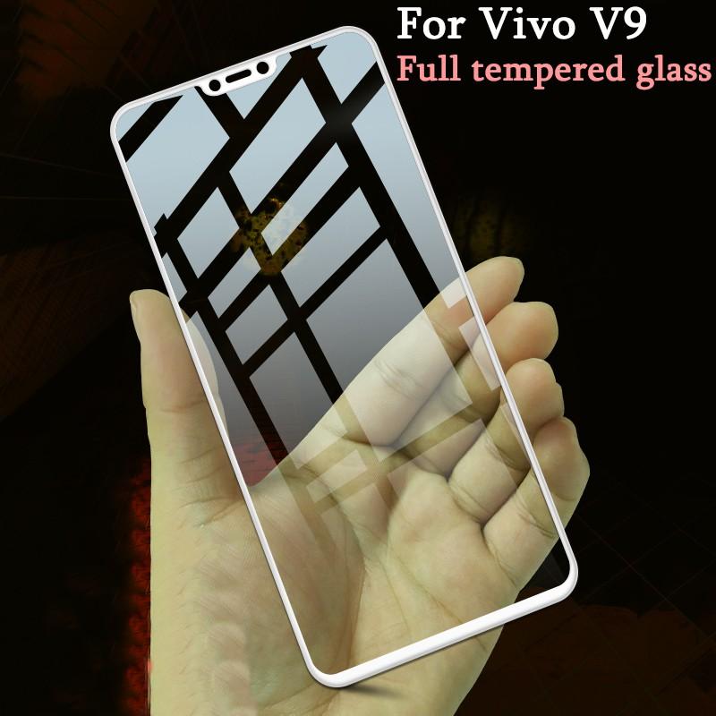 For Vivo V9 Tempered Glass 9h Full Cover Screen Protector Film Ready