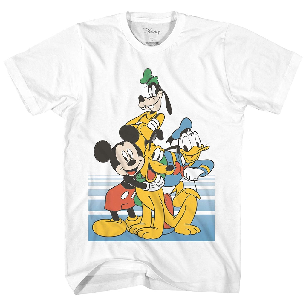 Disney T-Shirt Mickey Mouse Donald Duck Pluto Homme