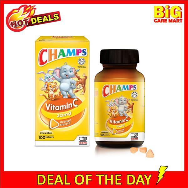 [Vitamin C for Kids] Champs Vitamin C 30mg Chewable Orange Flavor 100s