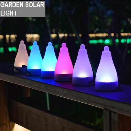 Garden SOLAR LIGHT Lampu Pelita Waterproof LED Lamp AAA Battery brand BEGREEN