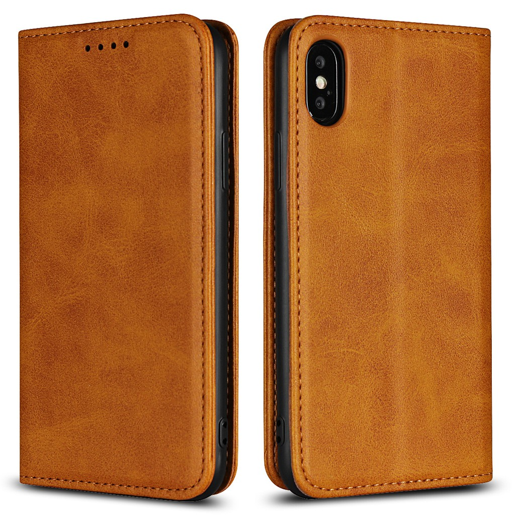 iPhone X XS XR Max 8 7 6 6S 5 5s Plus Luxury PU Leather Wallet Flip Case  Cover