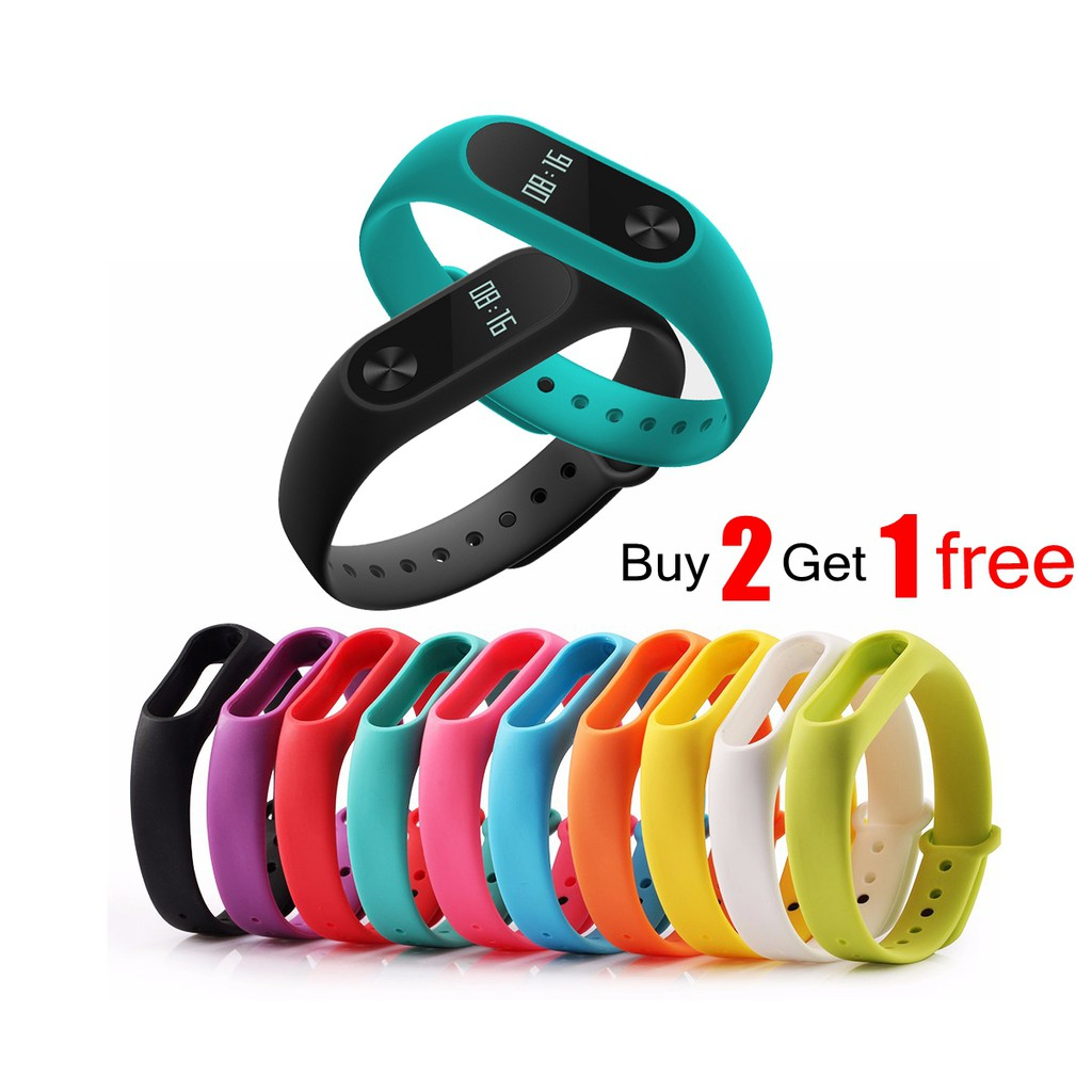 Replaceable Band Silicone Wristband Xiaomi Mi Band 2/ M2 Strap Bracelet | Shopee Malaysia