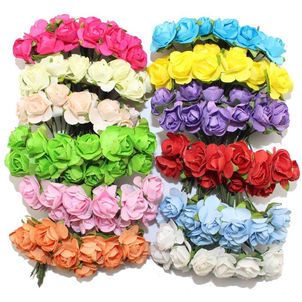 ช่อดอกไม้ดอกกุหลาบประดิษฐ์สำหรับตกแต่